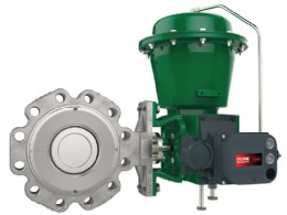 The Fisher® 8590 high-performance butterfly valve
