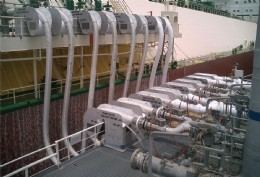 The operational commissioning of the KLAW LNG Ship-to-Ship Transfer System on the Excelerate LNG vessel Exquisite.