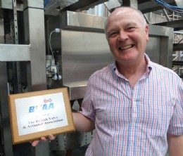 Sales Manager Phil Wilson with WHP�s BVAA plaque
