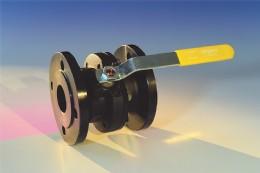 TechSeal split-body ball valve in carbon steel