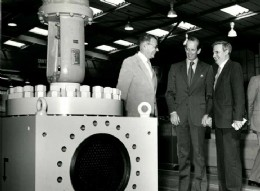 Ed showing a valve to the Duke of Kent