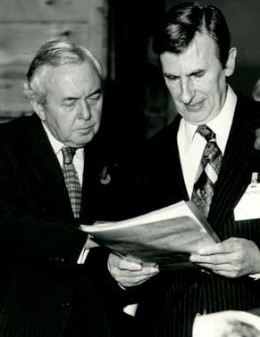 Ed hosting a visit from Prime Minister Harold Wilson