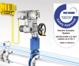 TÜV certification achieved by AUMA extends functional safety/SIL actuator options.