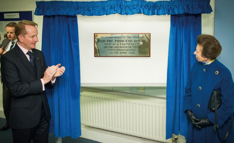 The Princess Royal unveils plaque