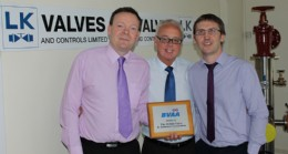 Directors; Colin Evans, Alan Forrester and Alan Wareing with their BVAA plaque.