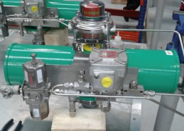 3˝ butterfly valve with pneumatic spring return actuator with all controls