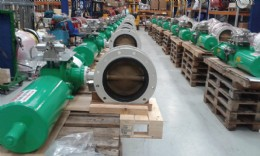 12˝ butterfly valve with pneumatic spring return actuator