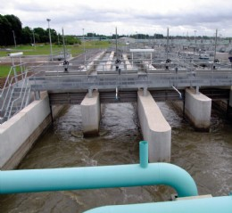 Figure 13.2.a. Potable water treatment plant. Image by permission of Rotork