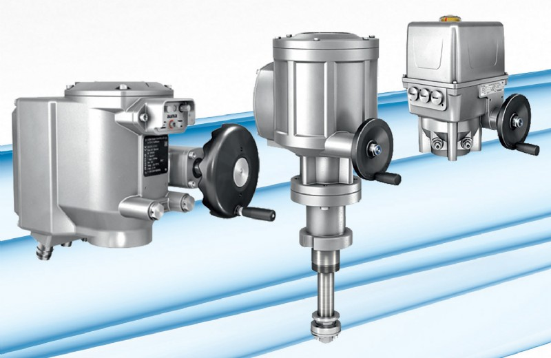 AUMA�s extended portfolio of compact actuators comprises the established SGC/SVC series as well as the new SD and EQ series.