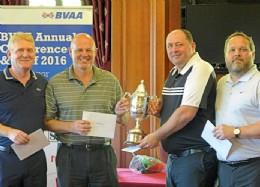 Emerson�s Champions, left to right: Simon Ashton, Phil Minchin, Steve Barford and Peter Evans