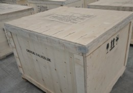 Packed and marked for sea freight