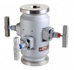 Double block and bleed valve utilizing heavy-duty needle valves