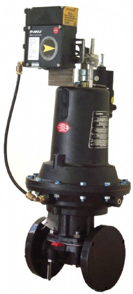 Saunders� control diaphragm valve utilizing a PMV EP5 Electro-pneumatic positioner