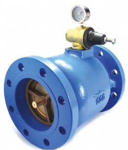 Axial pilot valve with no external pipework for smaller installed volume and reduced chance of external damage. Also available