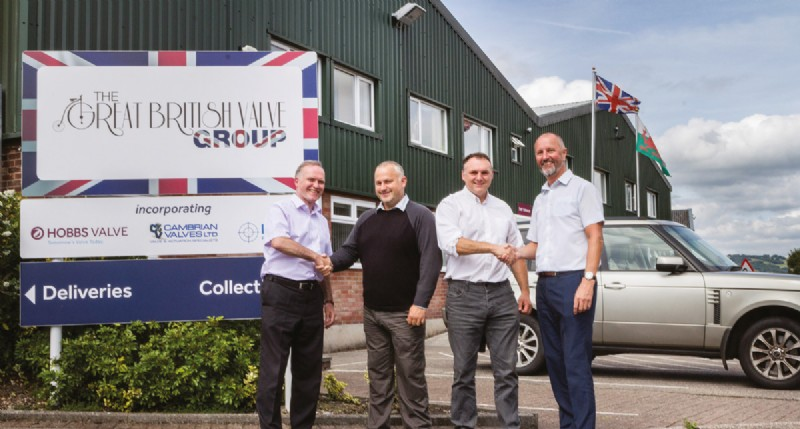 Tony Willicombe, Nick Long, Paul Matthews and Alun Hobbs, outside the GBVG facility in South Wales.