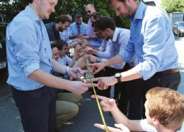 Cohort 2's Valve building exercise at BEL valves, and the 'helium stick' challenge at Rotork Gears