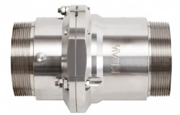 Marine2, the new KLAW Marine Breakaway Coupling, is 32% shorter and 25% lighter than alternatives and has been designed to reduce stress on reeled hoses.