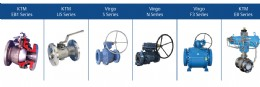 Figure 3: Emerson offers a wide range of ball valve solutions, such as these floating ball valves, that meet the B standard or better for fugitive emissions.