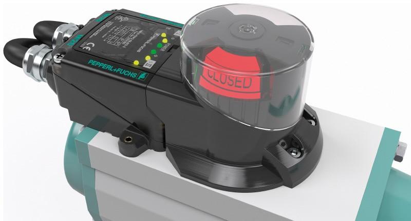 F31K2 dual sensor with actuator and display on the valve actuator