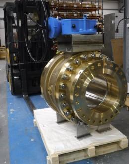 """Orseal 18"""" full bore ball valve, Flgd Cl300RF, Brass/Monel for oxygen"""