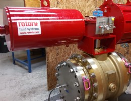 "Orseal 16"" ball valve with Rotork actuator"