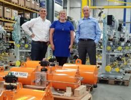 (From left to right) Nick Flint - Managing Director, Jessica Findell - Finance Director, Steve Craddock - Sales Director
