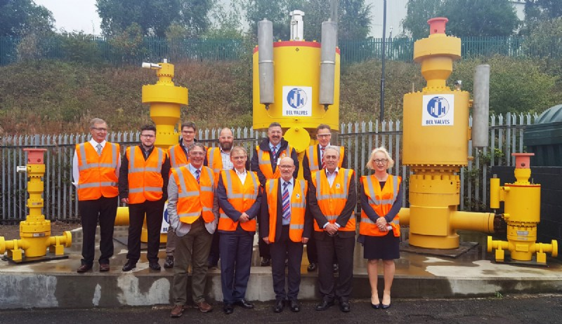 BVAA Valve WG pictured with some of BEL Valves� Shah Deniz range