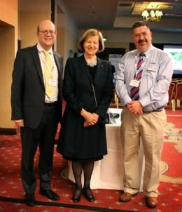 L-R: Colin Findlay, Baroness Nicholson, & BVAA Director Rob Bartlett