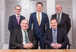 Left - Right Standing - MInteg directors Patrick Gallagher, Colin R. Smith and John Bruce Seated - EnerMech's CEO Doug Duguid and Integrated Maintenance and Integrity Director Stuart Smith