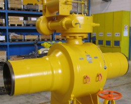 One of the Rotork Gears customised WGS550 subsea gearbox and Fluitek valve packages ordered for the Zawtika oil and gas field.