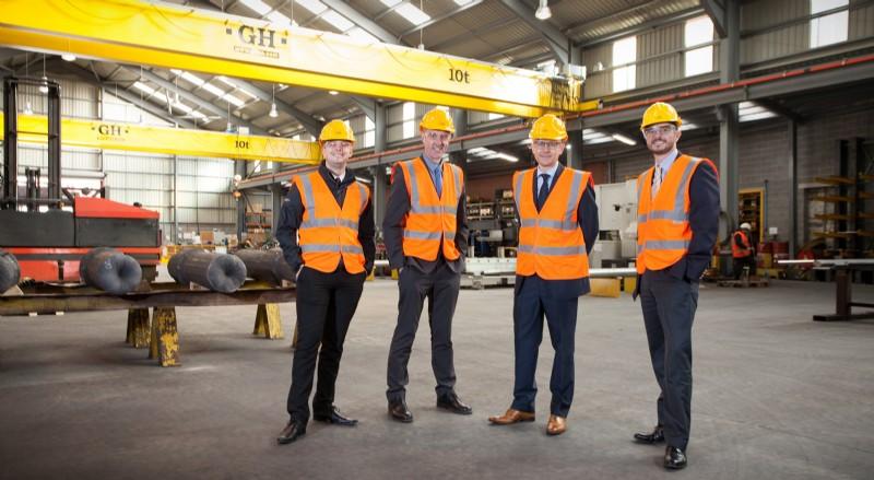 Left to right: James Oates (Regional Sales Manager), Darren Pryce (Sales Director), Shane Higgins (Field Sales), Benn Beardshaw (Managing Director)