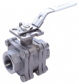 Fire-safe stainless steel ball valve