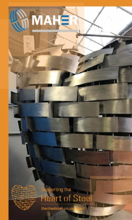 Maher has donated the Alloy 625 material for the Heart of Steel