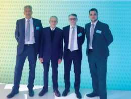 left to right - Bill Brach, managing director, Ultravalve; Giancarlo Ghiotto, founder, Mondeo; Nicola Ghiotto, owner, Mondeo; Thomas Brach, sales graduate, Ultravalve