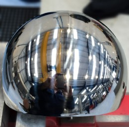 A finished and polished valve ball at our Normanton workshop.