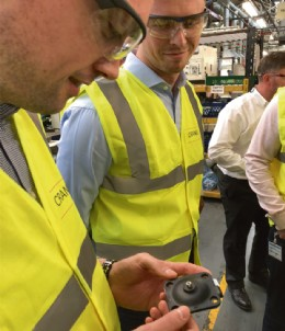 Checking out a diaphragm assembly at Crane, Cwmbran
