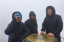Thermal Energy International�s Edward Gray sporting the BVAA hat at the three peaks
