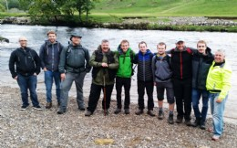 BVAA Future Leaders, at the River Wharfe hydroelectric plant, part-way through their recent Team Building exercise in the Yorkshire Dales