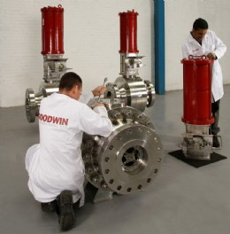Goodwin NEW Axial Isolation Valves with Pneumatic Actuation