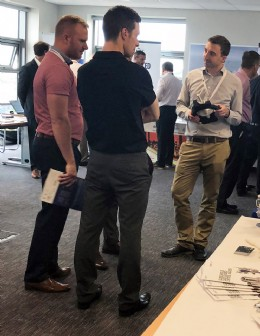 Members showcasing the latest innovations at the Worley Parsons Event