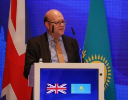 BVAA Chairman Colin Findlay (Severn) speaking at the UK-Kazakhstan Intergovernmental Commission on Trade (Astana, October 2018)