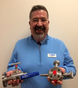 BVAA�s Rob Bartlett with our newly donated valves from Colson!