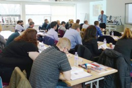 BVAA�s Technical Consultant, Martin Greenhalgh delivering valve training