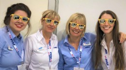 BVAA ladies sporting their Parker Hannifin glasses at Valve World
