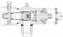 General arrangement drawing of a typical HP Bypass