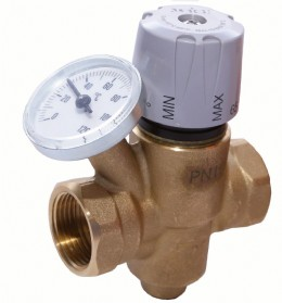 Thermal balancing valve for building services