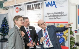 British Consul General Rafe Courage, Rob Bartlett BVAA CEO and BVAA Chairman Colin Findlay