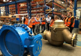 Future Leaders Cohort 3 on a factory tour