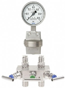 Typical misaligned valve & measuring instrument