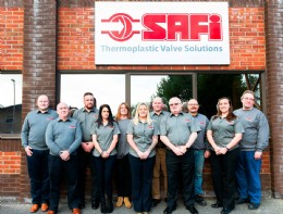 The SAFi UK team � pictured outside their sales and warehouse facility in Poole, Dorset.
